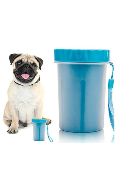 Protable Pet Paw Cleaner, Dog Paw Feet Cup Washer with Pet Towel,Blue