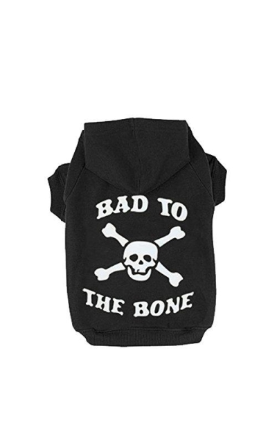 EXPAWLORER Bad to The Bone Printed Skull Fleece