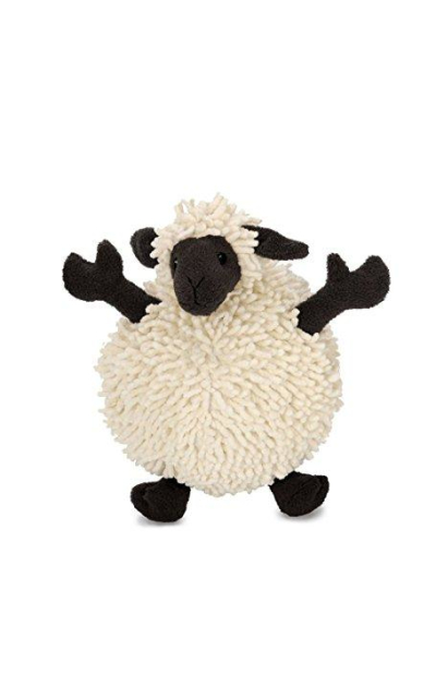 goDog Fuzzy Wuzzy Sheep with Chew Guard Technology Tough Plush Dog Toys