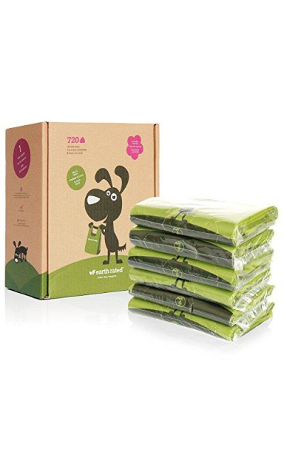 Earth Rated Dog Waste Bags with Easy-tie Handles (not on rolls)
