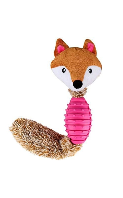 Fancar Dog Chew Toys Interactive Durable Squeaky Plush Dog Toy