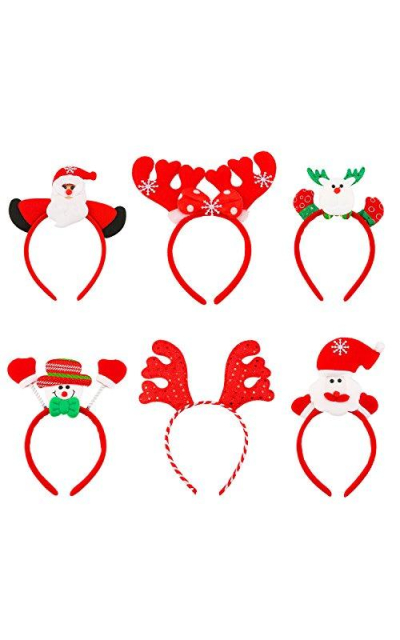 Resinta 6 Pieces Christmas Headband Reindeer Antlers Headband