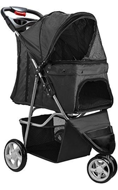 Paws & Pals 3 Wheeler Elite Jogger Pet Stroller Cat/Dog Easy Walk Folding Travel Carrier