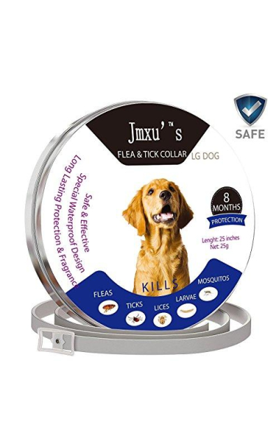 Jmxus Furry FIDO Flea & Tick Prevention for Dogs and Cats, 8 Month Protection