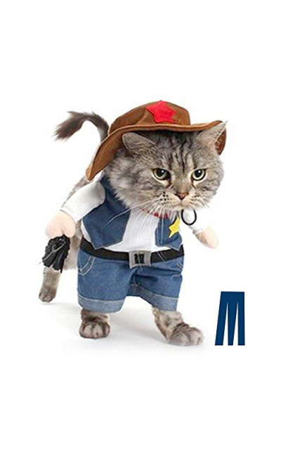 Mikayoo Pet Dog Cat Halloween Costumes,The Cowboy Party