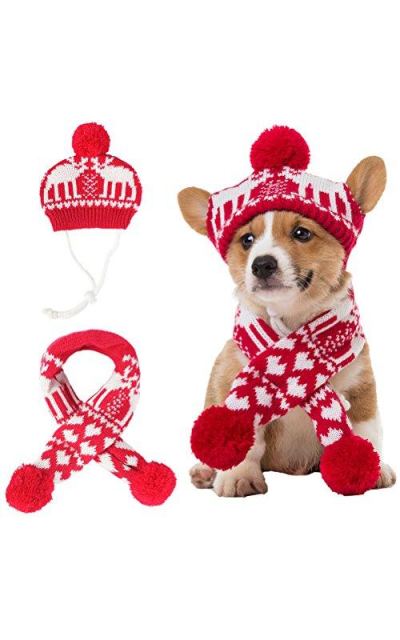 BINGPET Pet Costume Accessories Knit Set
