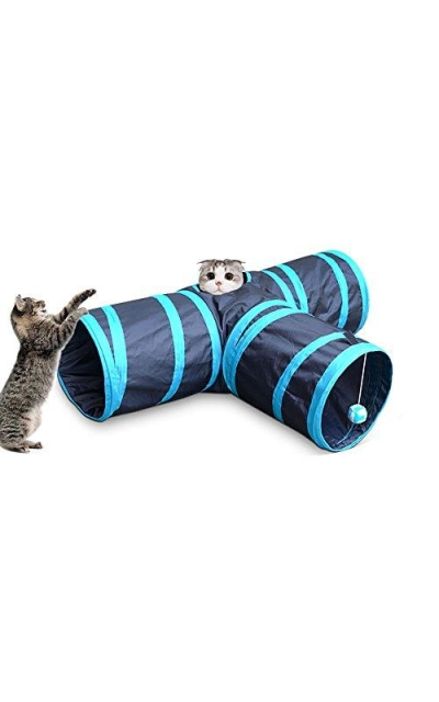 Pevor Collapsible 3-Way Cat Tunnel Toys