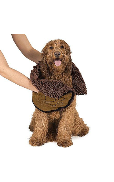 Pet Dog Towel, Quick Drying Absorbent Microfiber Shammy Pet Towel Hand Pockets