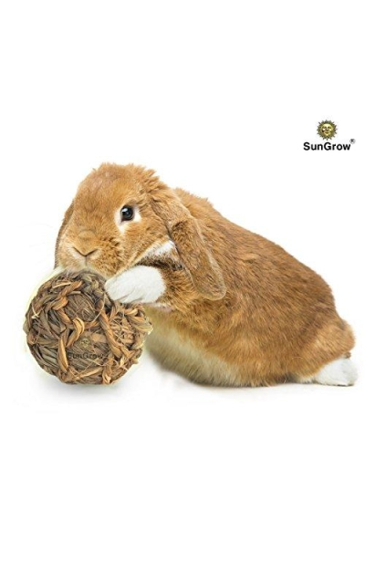 SunGrow Natural Seagrass/Banana Leaf Ball for Rabbits
