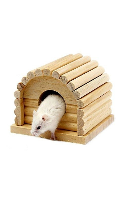 Beaks And Paws B&P Wooden Hamster House - Arched Hideout