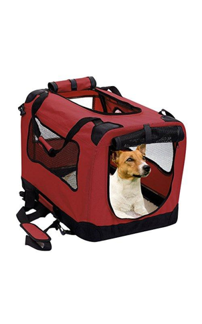 2PET Foldable Dog Crate - Soft, Easy to Fold & Carry Dog Crate for Indoor & Outdoor Use