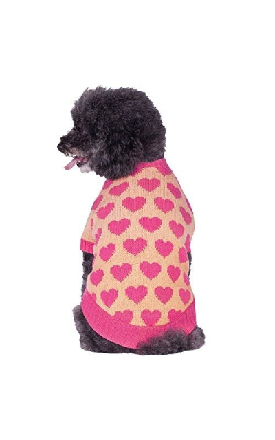 Blueberry Pet Valentine Heart Designer Pullover Dog Sweaters