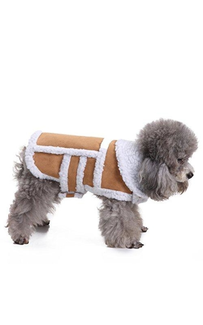 RYPET Small Dog Winter Coat - Shearling Fleece Dog Warm Coat for Small to Medium Breeds Dog