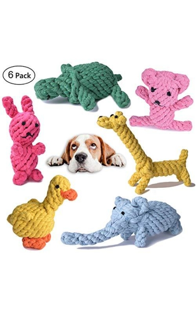 TOYSBOOM Dog Rope Toys Cotton Chew Toys for Puppy, Small Dogs, Value Pack