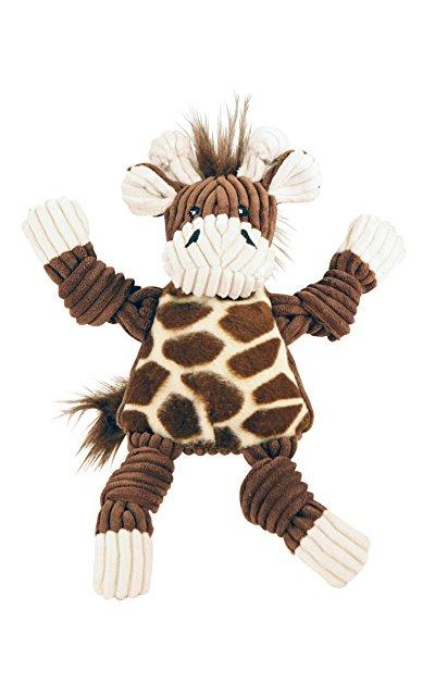 HuggleHounds Plush Corduroy Durable Knotties Dog Toy