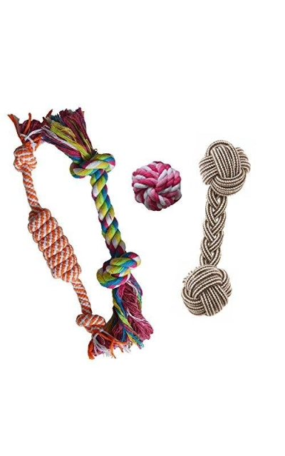 Puppy Chew Teething Rope Toys Set Mini Dental Pack For Small to Medium Dogs