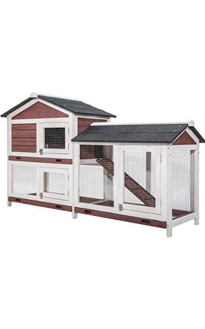 Purlove Pet Rabbit Hutch Wooden House Chicken Coop