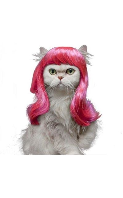 Drasawee Long Synthetic Female Pet Wigs