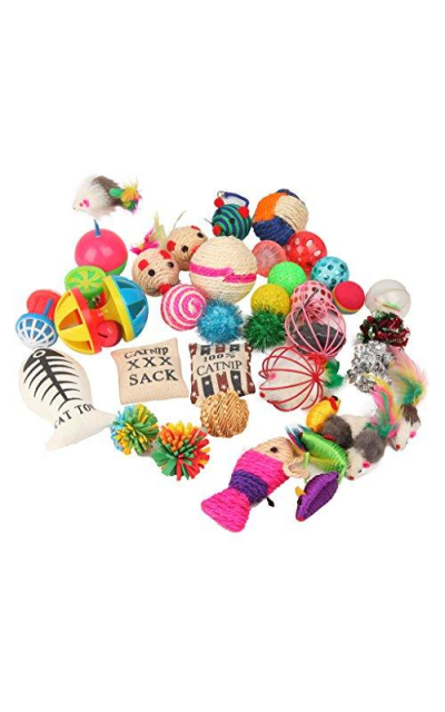 Cat Toys Variety Pack for Kitty 20 Pieces