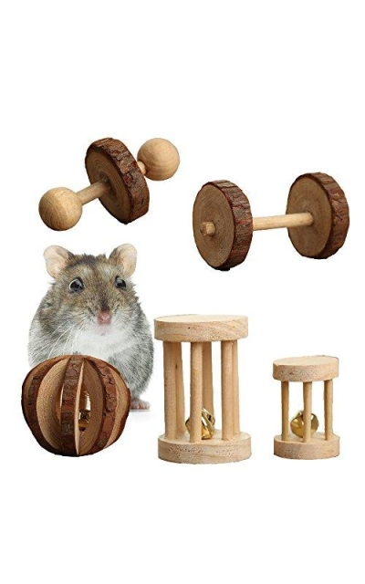 Pevor Pack of 5 Hamster Chew Toys