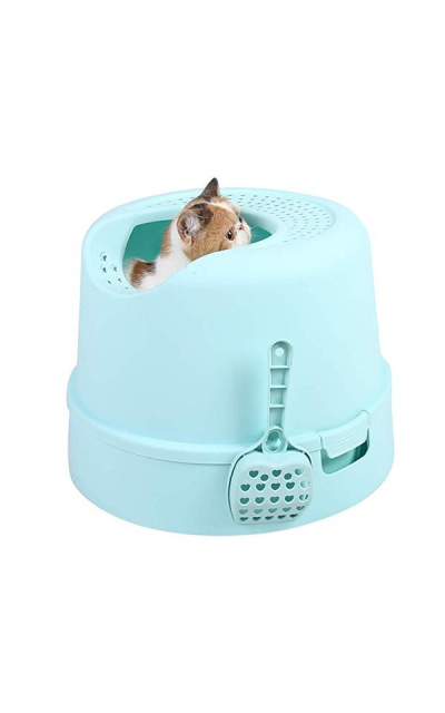 PetnPurr Top Entry Cat Litter Box with Lid and Scoop