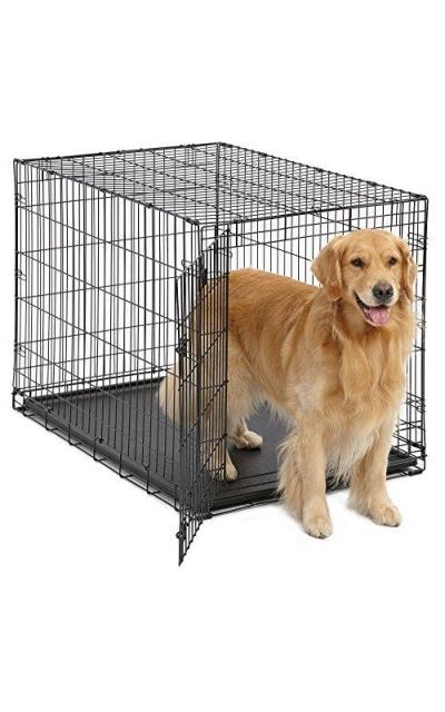 MidWest Homes for Pets Dog Crate | iCrate Single Door & Double Door Folding Metal Dog Crates