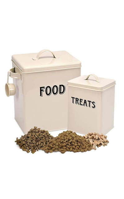 Pet Food and Treats Containers Set with Scoop