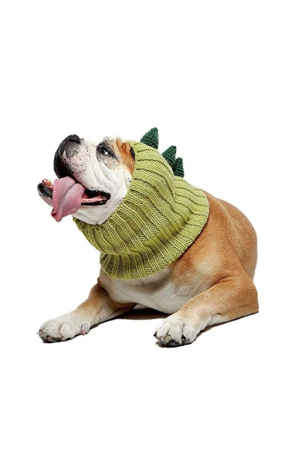 Zoo Snoods Dinosaur Dog Costume - Neck Ear Warmer Headband Protector