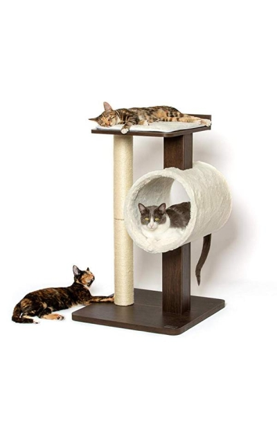 PetFusion Modern Cat Tree House & Tall Scratching Post
