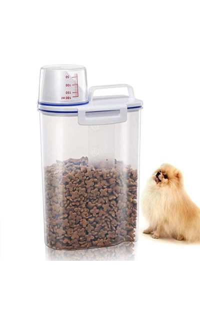 TBMax Pet Food Storage Container With Pour Spout and Measuring Cup