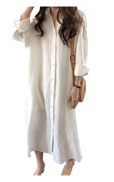 Sopliagon Cotton and Linen Shirt Dress