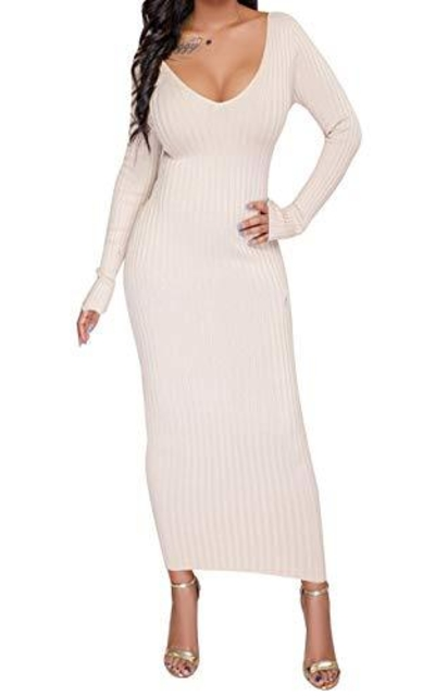 PerZeal  Slim Fit Sweater Midi Dress