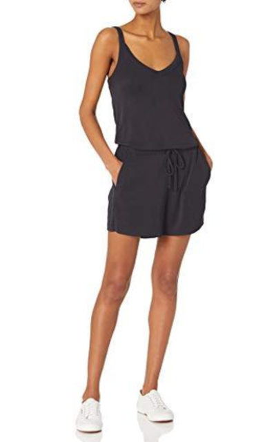 Amazon Brand - Daily Ritual Modal Blend V-Neck Sleeveless Romper