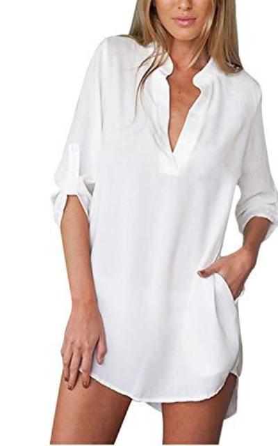 ZANZEA Cover Up Shirt