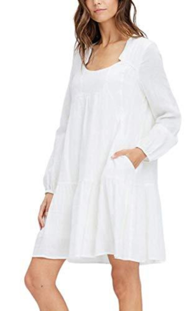 Swing Cotton Dress with Pockets