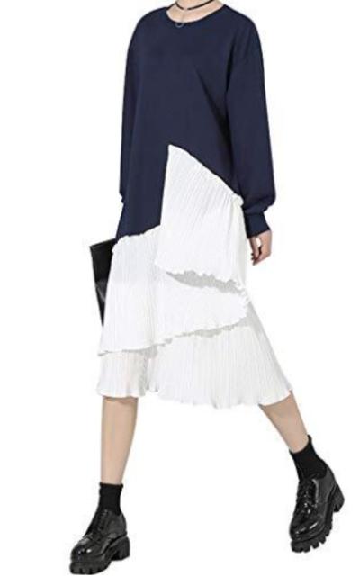 Xintianji Fleece Sweatshirt Dress