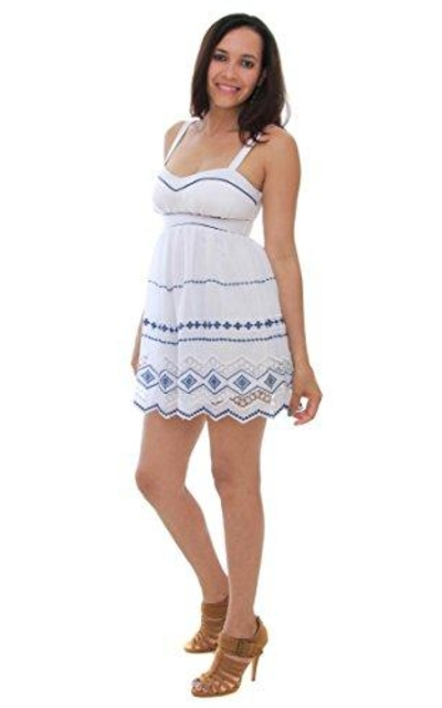 Bee Darlin B. Darlin Juniors Sleeveless Emroidered A Line Dress