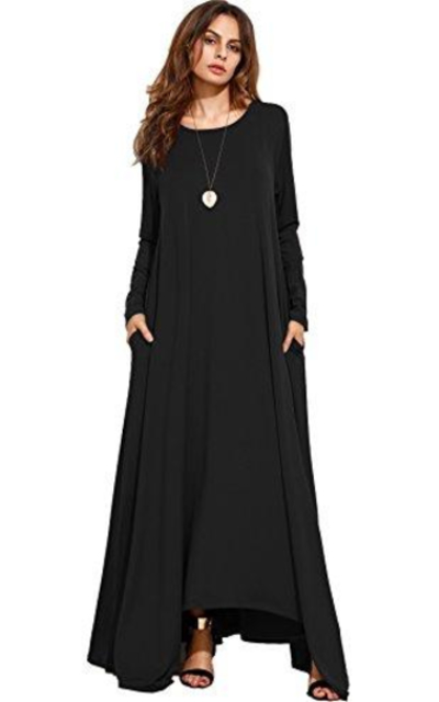 MakeMeChic Long Sleeve Maxi Dress