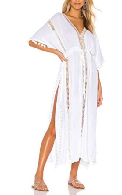 Bsubseach Split Beach Dress with Tassel