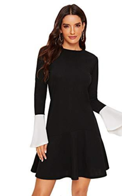 SheIn Ruffle Bell Sleeve Dress