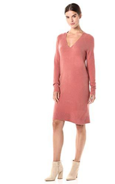 Amazon Brand - Daily Ritual Mid-Gauge Stretch Sweater Dress