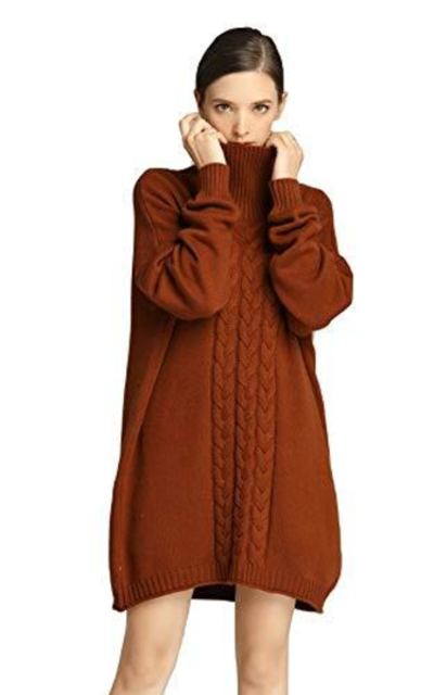 RanRui Oversized Tunic Sweater