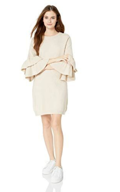 BB Dakota Honey Ruffle Sleeve Sweater Dress