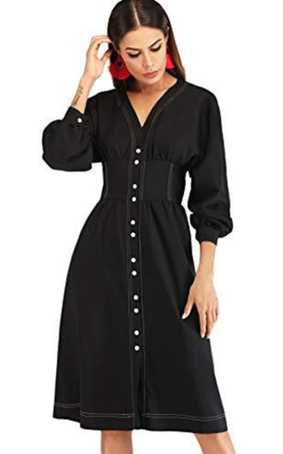 Milumia Button Down Fit and Flare Dress