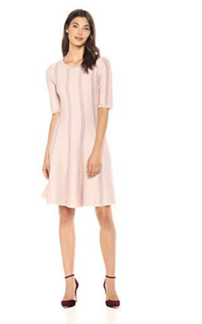 Gabby Skye Three-Quarter Sleeve Sweater Dress