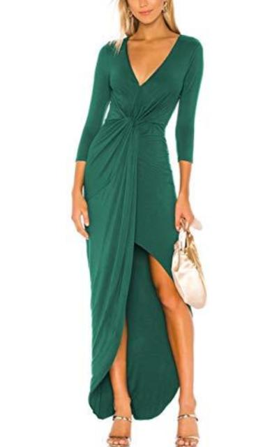 Cross Bodycon  Maxi Dress