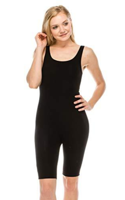 The Classic Catsuit Cotton Stretch Knee Length Jumpsuit