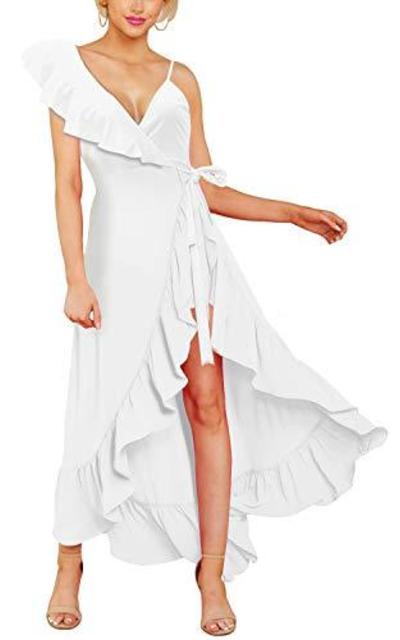 Cosics Ruffle Maxi Wrap Dress