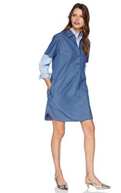 J.Crew Mercantile Short Sleeve Chambray Shirtdress