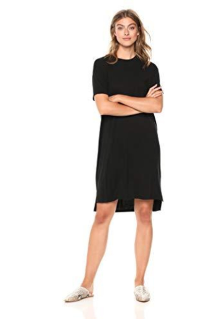 Amazon Brand - Daily Ritual Jersey Short-Sleeve T-Shirt Dress